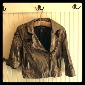 Faux snakeskin Moto jacket from The Buckle